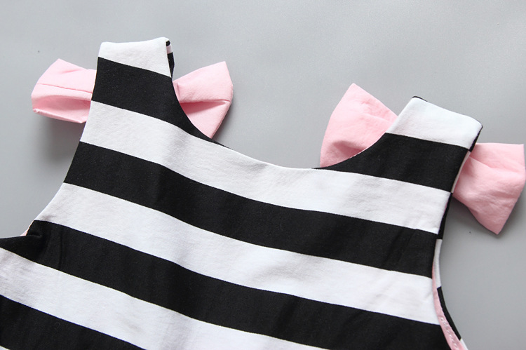 HTB1ValJQpXXXXX7aXXXq6xXFXXXy - Baby Girls Dress Summer 2017 Stripe Dress Baby Dressing for Party Holiday Black and White with Bow Kids Clothes Girls Cute Brand