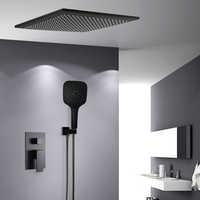 BAKALA Shower Faucets black wall mounted rainfall bathroom concealed shower mixer taps bath rain shower set bathtub faucet BR-BB