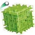 Зеленый Лабиринт Magic Cube Puzzle 3D Мини Скорость Куб Лабиринт катящийся Шар Игрушки Игра-Головоломка Cubos Magicos Обучающие Игрушки Для Chilren
