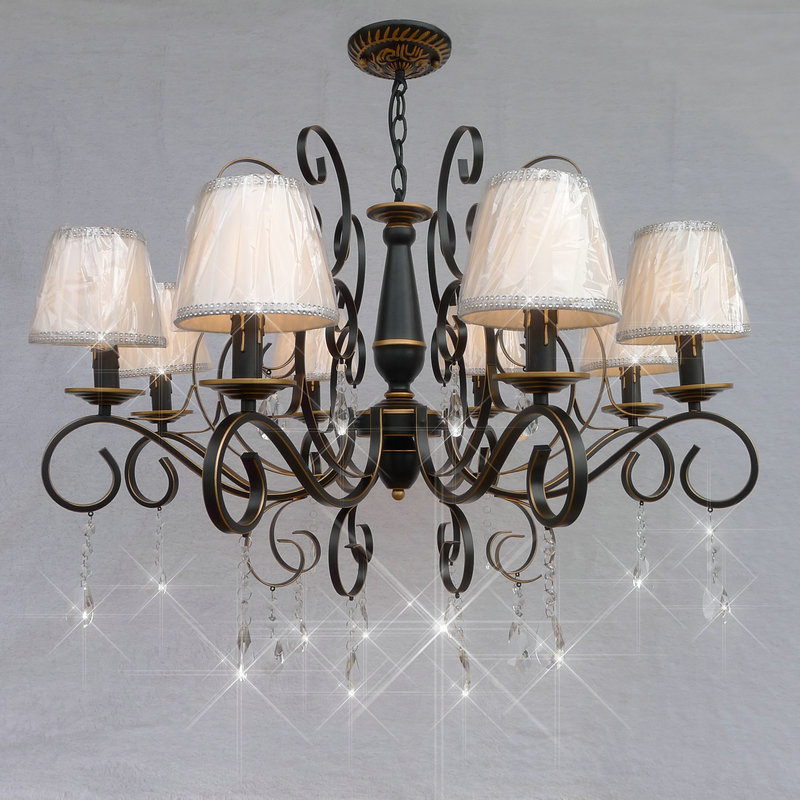 Multiple Chandelier European Crystal living room lamp restaurant bedroom lamps simple retro pastoral lighting ZA ZX158 lo1018 multiple chandelier dining room bedroom lamp iron simple modern retro american pastoral lighting zx42