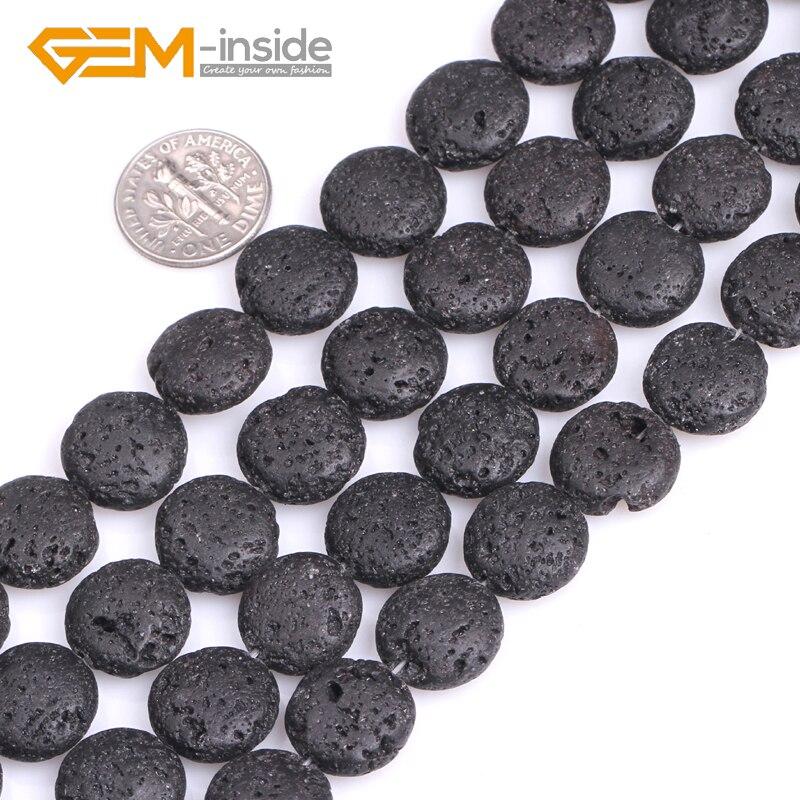 b77b9abf697d Vnox Punk Piedra Natural cuentas de Lava pulseras para hombres de cuero  genuino negro cuerda 8