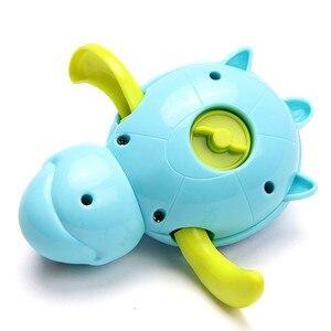 Image 5 - Einzigen Verkauf Nette Cartoon Tier Schildkröte Klassische Baby Wasser Spielzeug Infant Schwimmen Schildkröte aufgewickelten Kette Clockwork Kinder Strand bad Spielzeug