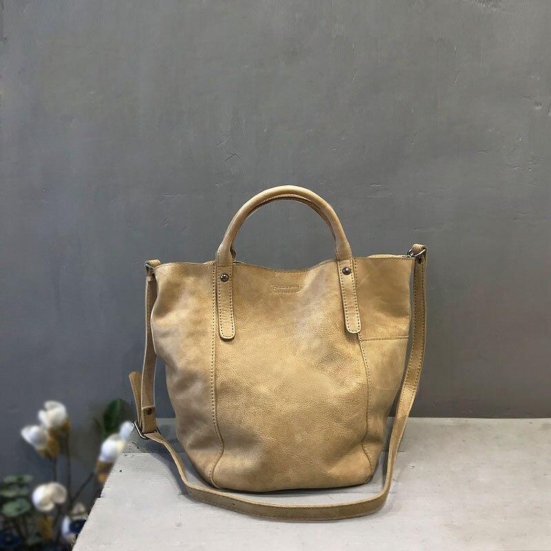 Bolsos de cuero genuino de Vendange hechos a mano para mujer bolso cruzado 2481