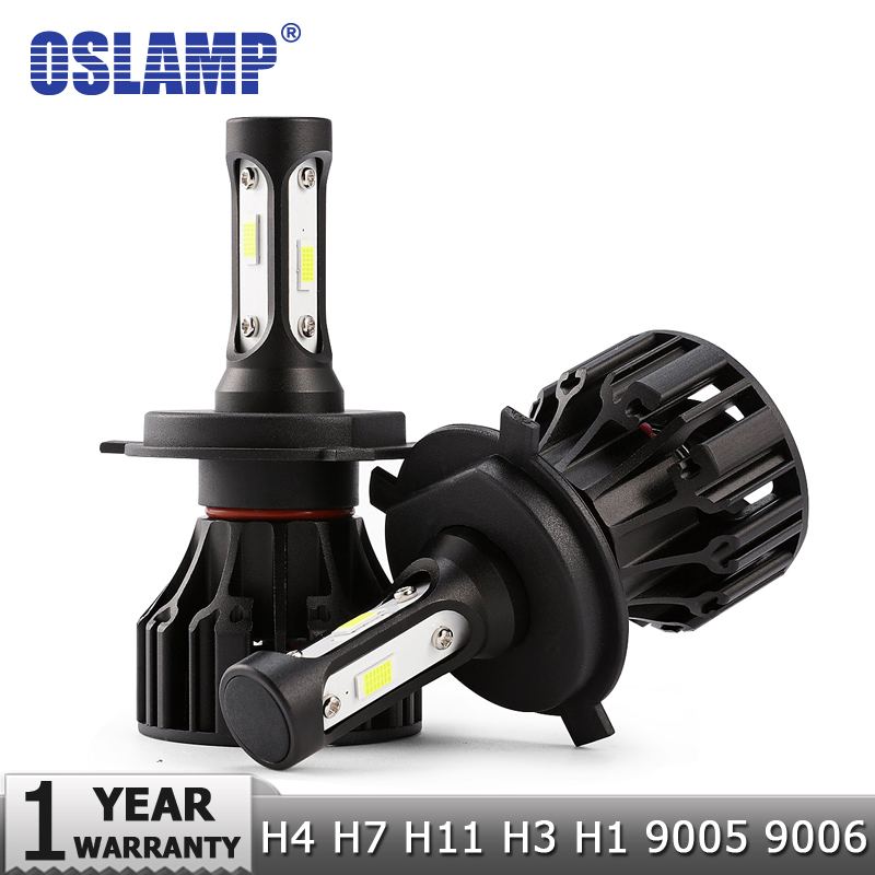 Oslamp Led Light Bulbs H7 With Adapters Holder Kp-111 Led Headlight Single Beam 70w Smd 6500k 7000lm For Cruze/rav4/equinox Car Lights