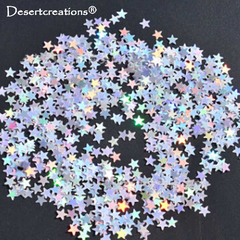 Festive & Party Supplies 6000pcs 6mm Wedding Table Sparkling Confetti Decorations Baby Shower Birthday Little Five-pointed Stars Confetti Party Supplies Beautiful In Colour