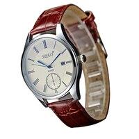 Quartz Waterproof Roman Numerals Watch Fashion Women Automatic Leather Business Wristwatch Top Quality False Dial Clock