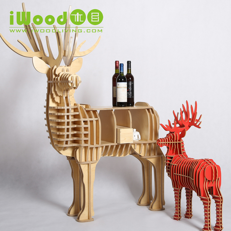 Nordic Elk wood shelving creative home decor European ornaments Home Decoration deer simulation wooden crafts free shipping realistic simulation dog ornaments garden courtyard home living room decorations crafts lucky animal decoration