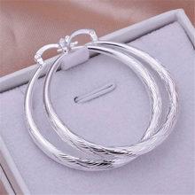 Brinco feminino gancho retrô, joia para casamento da cor prata com gancho