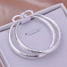 free shipping hot NEW ARRIVE hot sale  silver plated women Lady retro hook wedding Party earring jewelry best gift