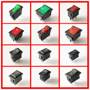 SPST KCD 3PIN 6PIN On/Off Square Rocker Switch DC AC 6A/250V Car Dash Dashboard Plastic Switch Dropshipping