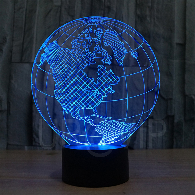 fs 2818 3d led lampe erde form kunst skulptur lichter in. Black Bedroom Furniture Sets. Home Design Ideas