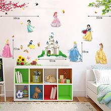 Free shipping Snow White Cartoon Wall stickers three generations of wall Kids Nursery Childrens Bedroom Decals
