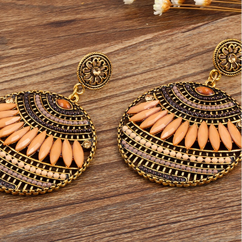 2016 Hot Bohemian Style Jewelry Unique Design Hollow Droped Earrings Exaggeration Earrings