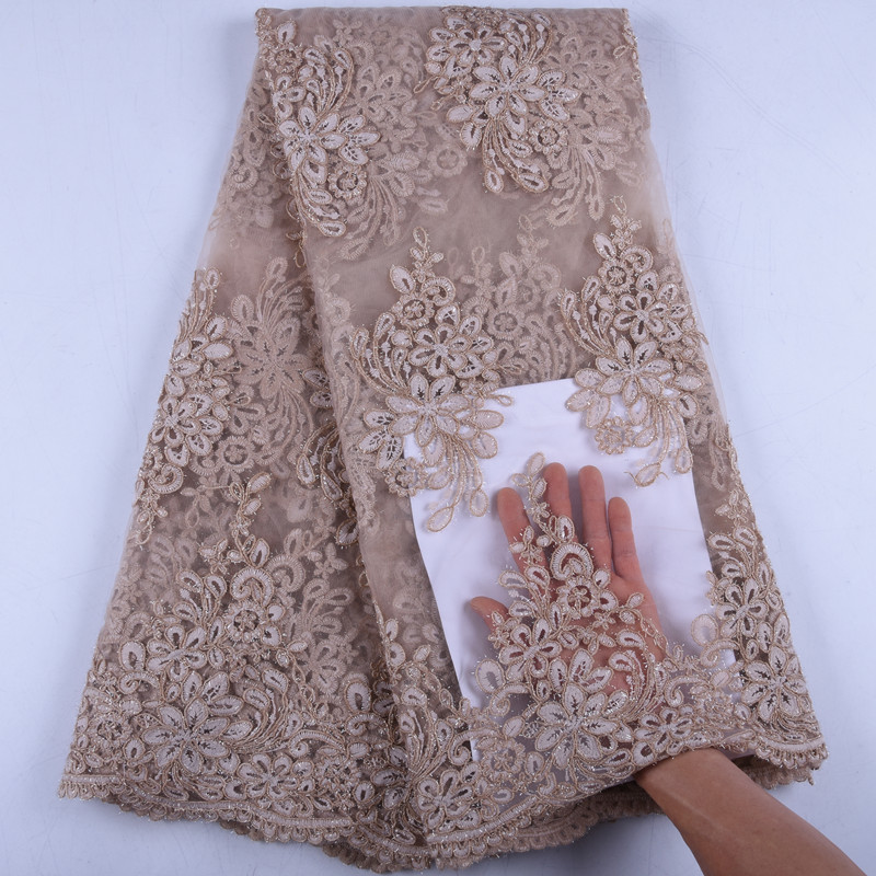 High Quality Nigerian Lace Fabric 2019 Fashion African French Net Lace Fabrics Embroidered Tulle Mesh Lace