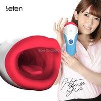 Leten waterproof vibrating Masturbator Cup for Men oral sex with AV star Yui Hatano sex moan 10 mode vibration sex toys for men