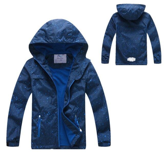 Новинка 2019 года, весенне-Осенняя детская верхняя одежда, куртки, спортивные модные детские пальто, двухслойные непромокаемые ветрозащитные куртки для мальчиков и девочек