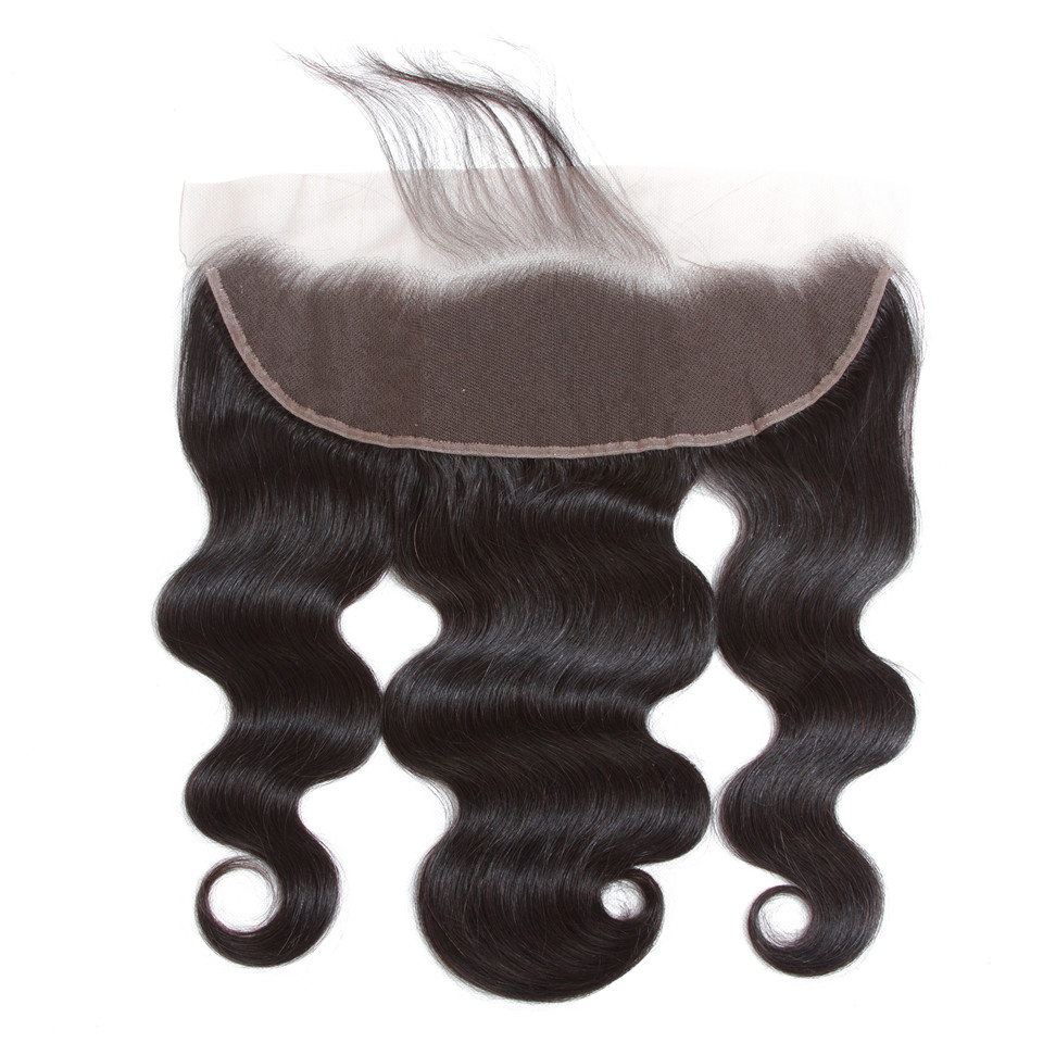 Image 5 - Sweetie Brazilian Body Wave 13X4 Ear To Ear Lace Frontal Closure With Bundles Non Remy Human Hair With Lace Frontal Baby Hair-in 3/4 Bundles with Closure from Hair Extensions & Wigs