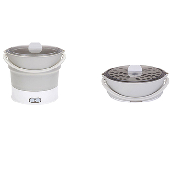 Складной электрический чайник для сковородки с подогревом контейнер для еды с подогревом Ланч-бокс Плита Портативный горячий горшок для пр...
