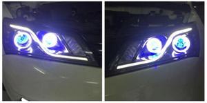 Image 2 - Rhd lhd geely emgrand ec7 farol, 2 pçs 2014 2015 2016 2017, acessórios do carro, emgrand ec7 luz de nevoeiro, ec8, emgrand ec7 lâmpada frontal