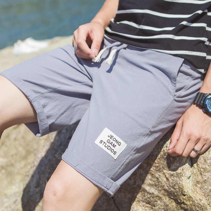 2019 夏のホームカジュアルなショートパンツ男性、ファッションプラスサイズメンズルースコット、快適な通気性白ショーツ男性 S-5XL