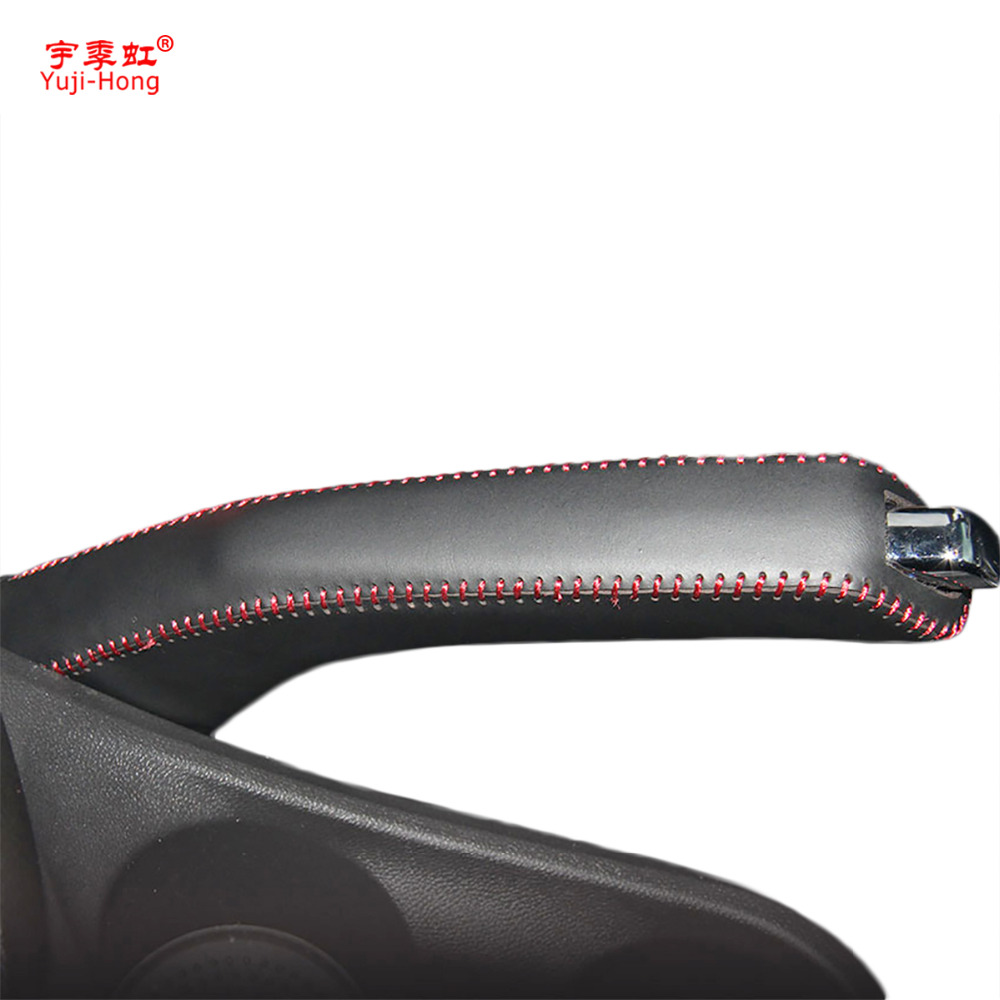 Yuji-Hong Car Handbrake Covers Case For Buick Excelle 2015 2016 2017 Genuine Leather Handbrake Grips Cover