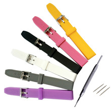 Men Women Child Commom Rubber / Silicone Strap 14mm Waterproof Watch Band + Tools