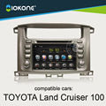 IOKONE Android 4.4 Dvd-плеер Автомобиля Для Toyota Land Cruiser 100 с Bluetooth, GPS 3 Г WI-FI SWC Сенсорный Экран, CANBUS бесплатно SD карты