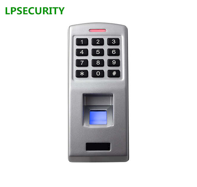 LPSECURITY Standalone fingerprint keypad access control Support Finger and Password keypad access control(no RFID reader) biometric fingerprint access controller tcp ip fingerprint door access control reader