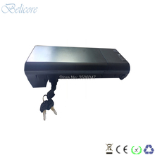 free shipping 36v rear rack battery li-ion 10ah 10s4p black ebike
