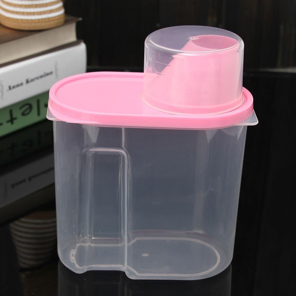 Online Shop Green Flour Storage Dispenser Food Clear Container Box 1 X Dry  Dried Food Cereal Pasta | Aliexpress Mobile