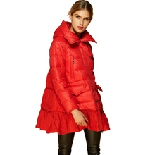 Winter womens down jacket fashion coat winter loose hooded for women AF1258