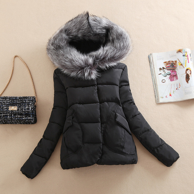 Cotton Hooded Women Jacket 2016 New Fashion Winter Thicken Casual Women Coat Slim Padded Outwear chaquetas mujer