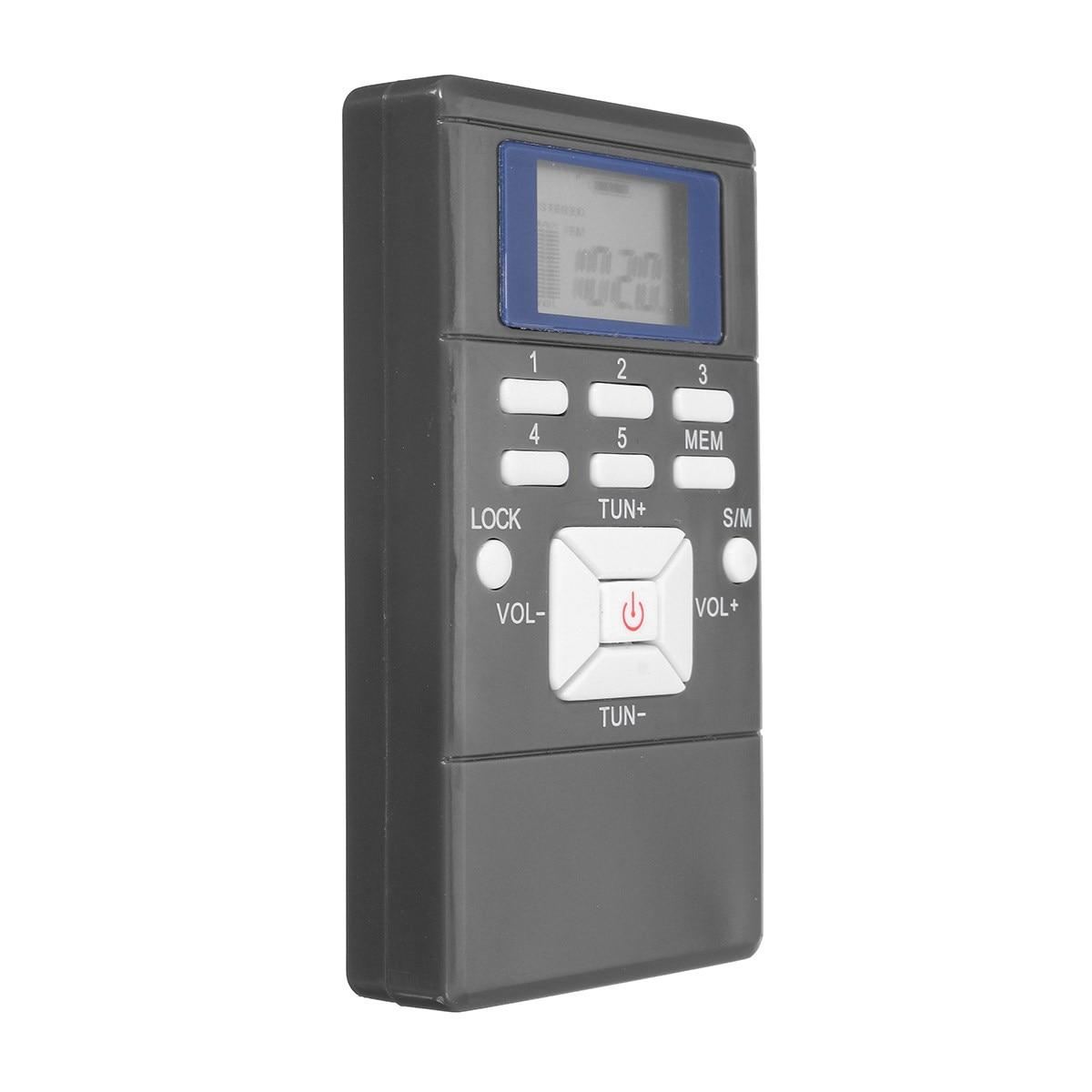 Neue Tragbare Mini Frequenzmodulation Radio Fm Digital Led Signalverarbeitung Empfänger Mit In-ear Kopfhörer 3,5mm Tragbares Audio & Video Radio