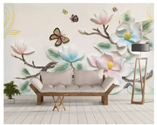 beibehang Fashion three-dimensional decorative painting personality wall paper elk geometric fashion Nordic background wallpaper