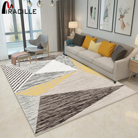 Miracille High Quality Abstract Square Art Carpet For Living Room Bedroom Anti slip Floor Mat Fashion Kitchen Rectangle Carpet