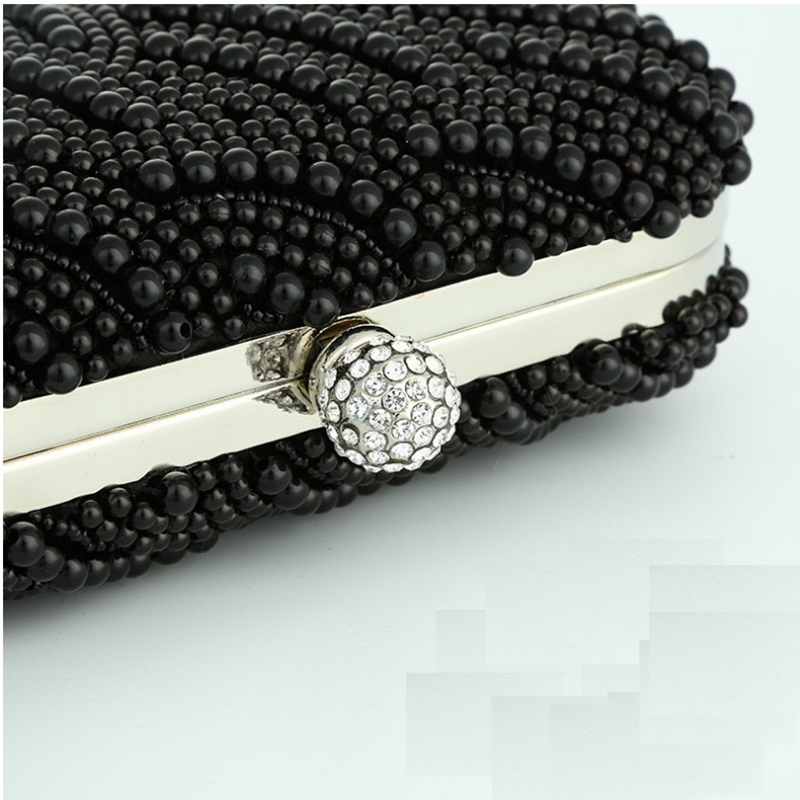 Shoubang Hand made Luxury Pearl Clutch bags Women Purse Diamond Chain white  Evening Bags for Party Wedding black Bolsa Feminina-in Top-Handle Bags from  ... a2abb6ccf255