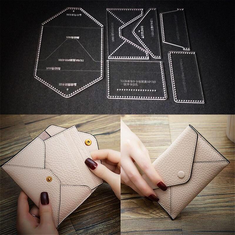 1-Set-Business-card-bag-zero-Purse-Acrylic-Leather-Handbag-Template-Leathercraft-Sewing-Pattern-DIY.jpg_640x640_