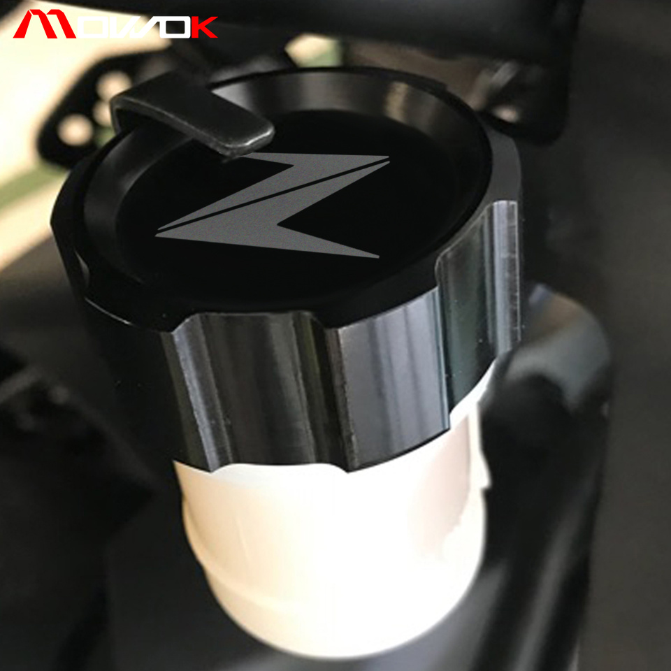 Motorcycle <font><b>Accessories</b></font> Brake Fluid Tank Cap Cover Brake Reservoir For <font><b>Kawasaki</b></font> <font><b>Z900</b></font> Z650 Z800 Z250 Z1000/Z1000SX image