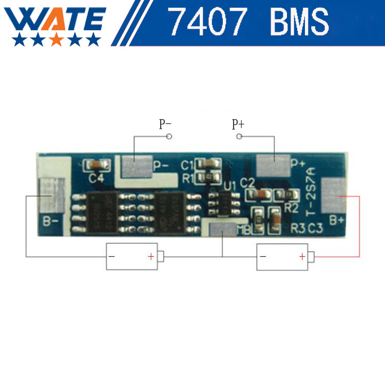 Protection Circuit Module 2S 7A BMS PCM PCB Battery Protection Board For 7.4V Polymer lithium - ion battery pack 5pcs 2s 7 4v 8 4v 18650 li ion lithium battery charging protection board pcb 89 5mm overcharge short circuit protection