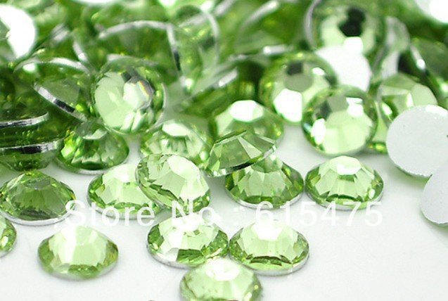 5mm Peridot Color SS20 crystal Resin rhinestones flatback,Nail Art Rhinestones,30,000pcs/bag