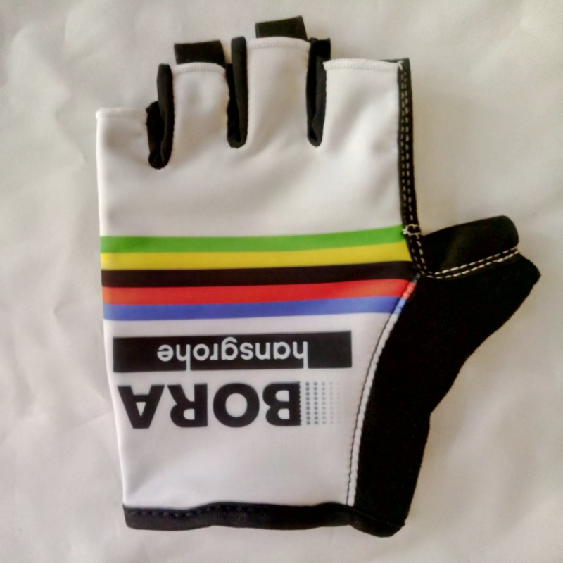 2017 pro team bora world champion rainbow Cycling <font><b>glove</b></font> GEL shock absorption high quality half finger Bike <font><b>gloves</b></font> Size m-XL