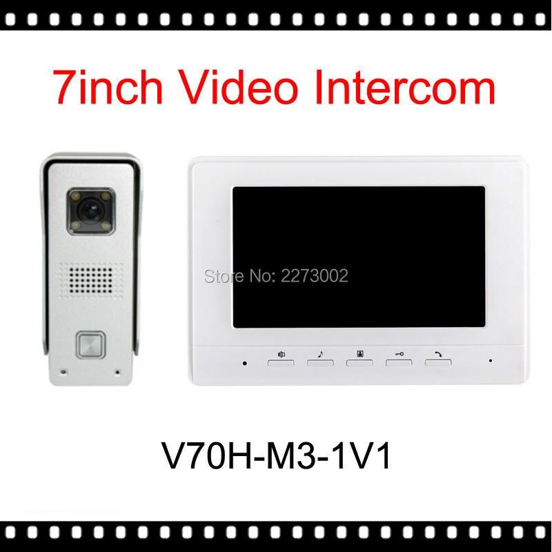 New Arrival Doorbell 7 Inch Color LCD Video font b Door b font Phone Intercom System