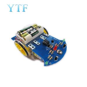 Diy-Kit Electronic-Production Car Fun Track-Line Smart-Car-Chassis-Kit Intelligent Practice