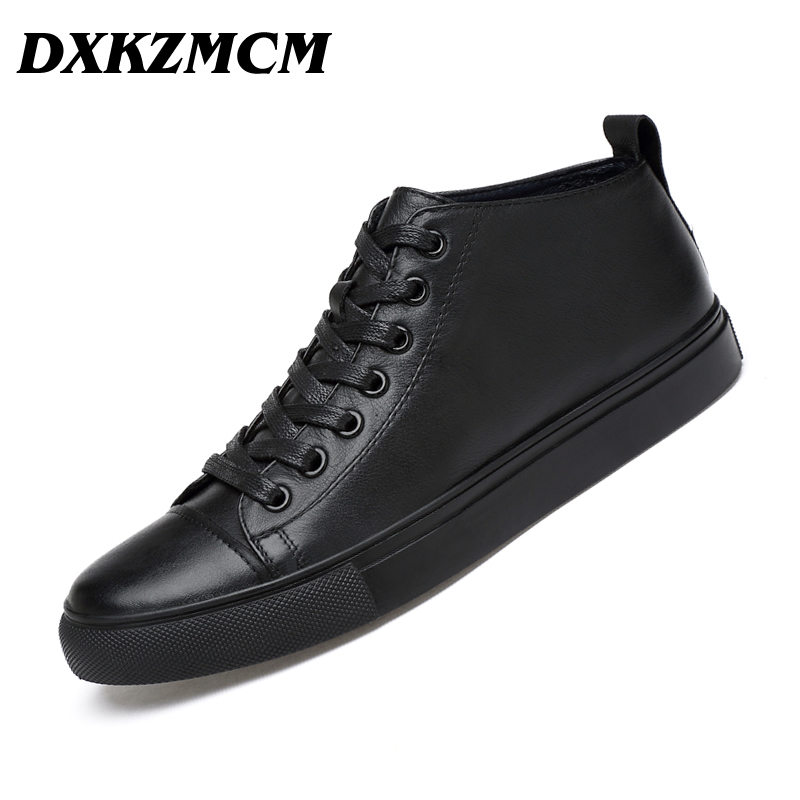 DXKZMCM Handmade Genuine Leather Men Casual Shoes, Fashion Designer Warm Casual Men Leather Flats Shoes, dxkzmcm genuine leather men loafers comfortable men casual shoes high quality handmade fashion men shoes