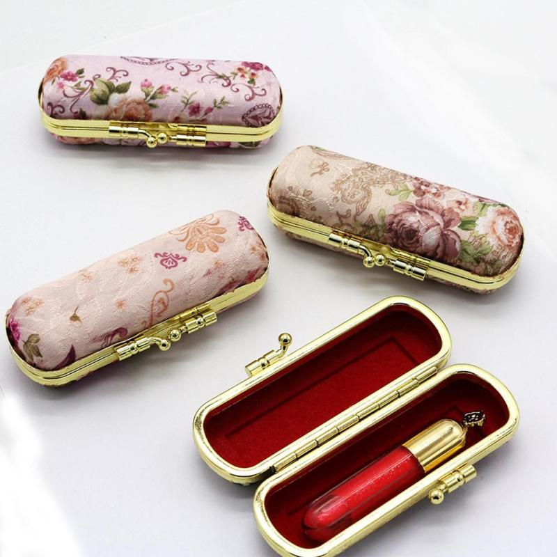 Follow Embroidery Women Lipstick Bag Case Small Coin Box for Girls Lovely Lipstick Storage Clutch Cases Package 1