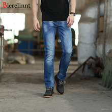 Bierelinnt Slim Straight Elastic Hot Sale Casual Cotton Men Jeans,2017 New Arrival Good Quality Denim Jeans Men,158017
