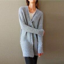 Women Cardigan Female Solid Cardigans Long Sleeve Knit Jersey Warm Mohair Tops Block Open Front Winter Sweater Casaco Feminino open front plaid knit cardigan