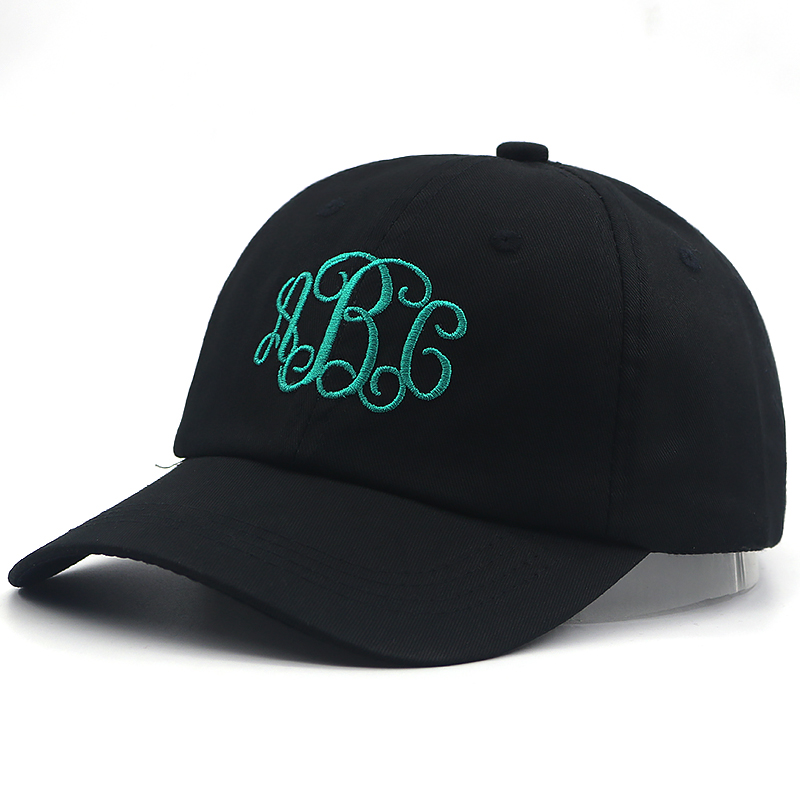 unisex fashion Monogram Baseball Cap 100% cotton letter embroidery dad hat women men summer spring casual caps high quality