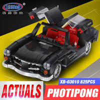 XingBao 03010 825Pcs Creative MOC Technic Series The Photpong Car Set Toys For Children Education Building
