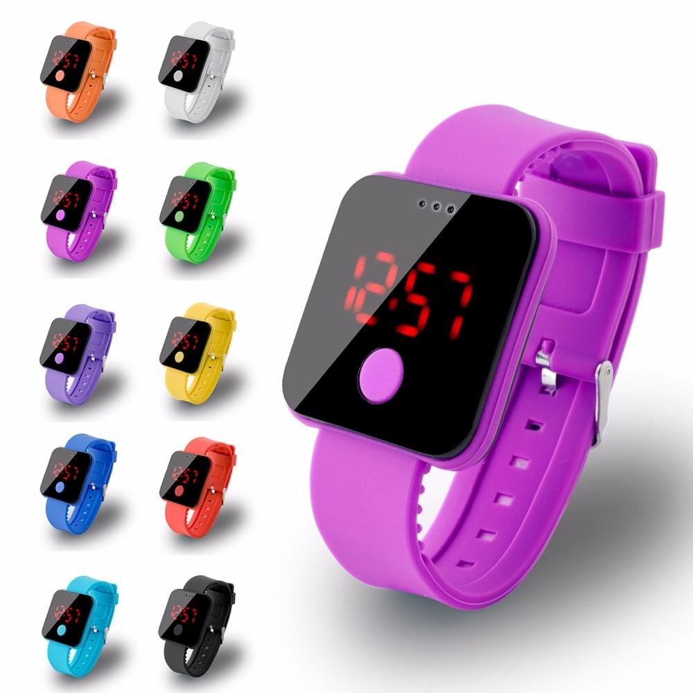 Multifunksjon armbåndsur time mote sport klokke for menn kvinner barn fargerike elektroniske led digitale barneklokker barn klokke